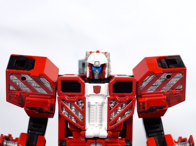 Combiner Wars Hot Spot Titans Master neck adaptor in White Strong & Flexible