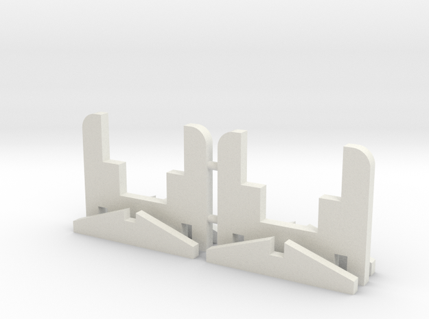 Car Supports (Pair) in White Natural Versatile Plastic