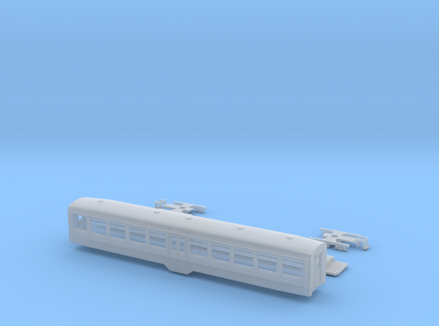 Passenger car type WS w/bogie in Smooth Fine Detail Plastic