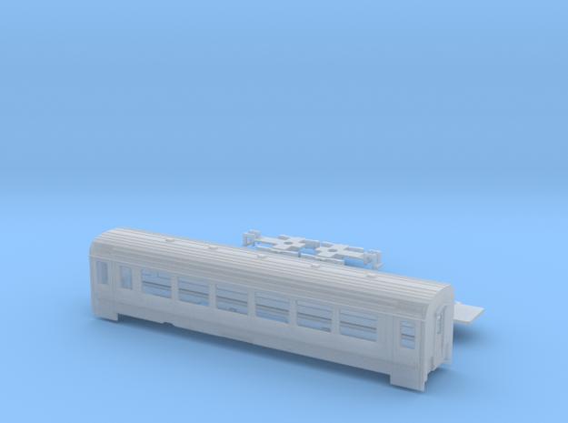 Passenger car type B-4S w/bogie in Smooth Fine Detail Plastic