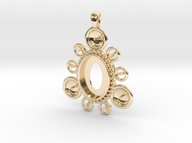 "Pendant ""Ursula"" in 14k Gold Plated Brass: Large"