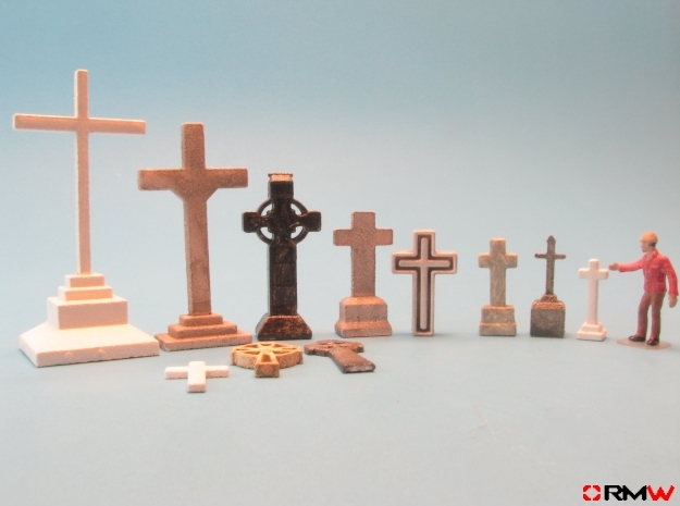 HO/1:87 Cemetry set 1 - crosses kit