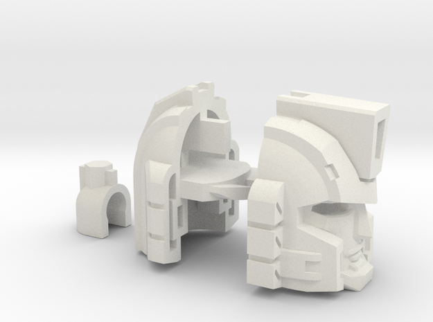 Professor Sharpshooter's Head Voyager in White Natural Versatile Plastic