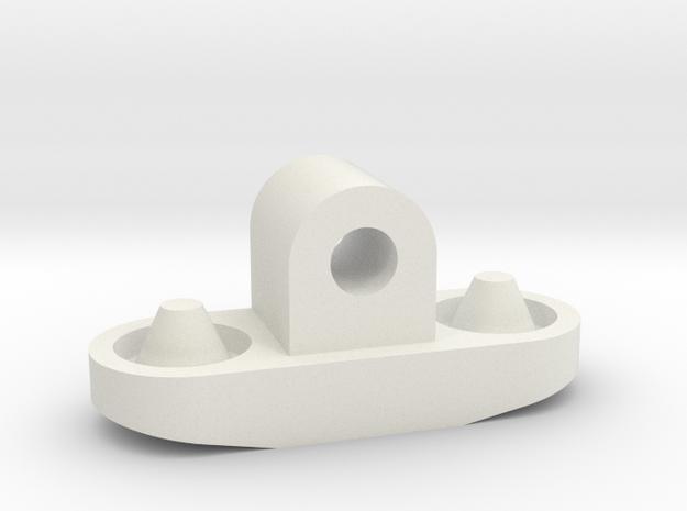 E-100 Spring Holder in White Natural Versatile Plastic