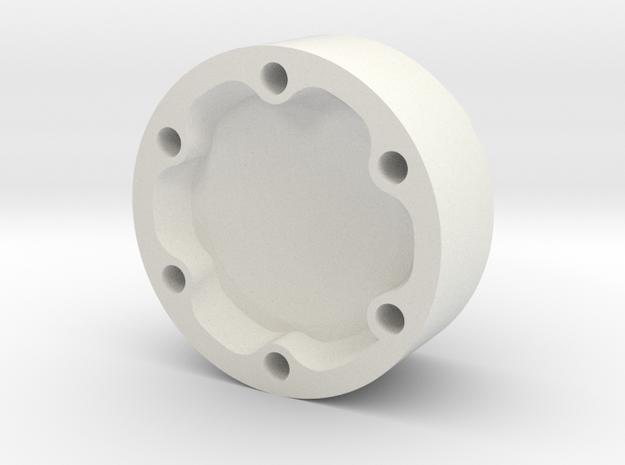 E-100 wheel hubcap in White Natural Versatile Plastic