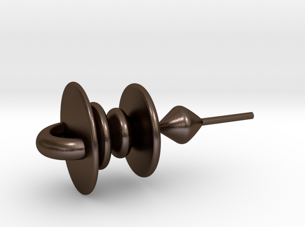 TangibleVoice in Polished Bronze Steel: Small