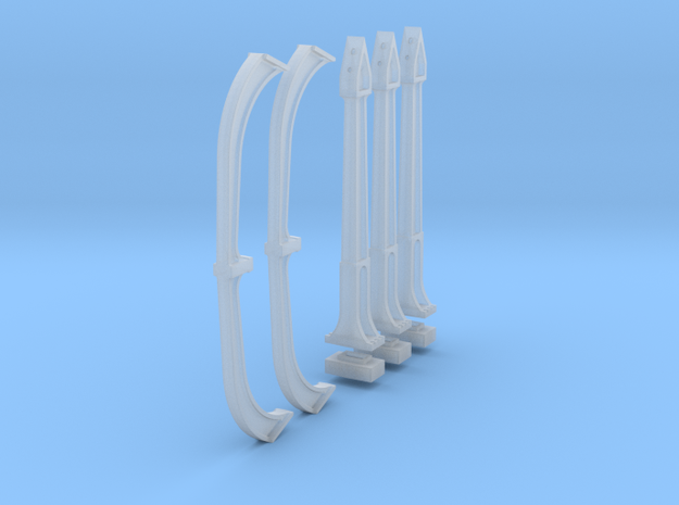 N Scale DTI concrete Catenary supports 4TRK KIT