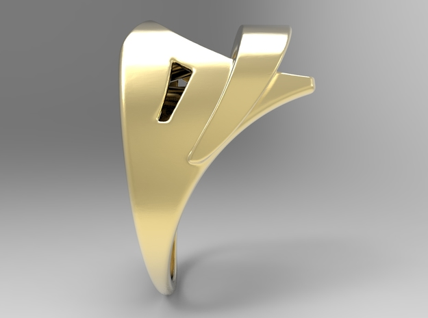 Wind Ring G in 18k Gold Plated: 10 / 61.5