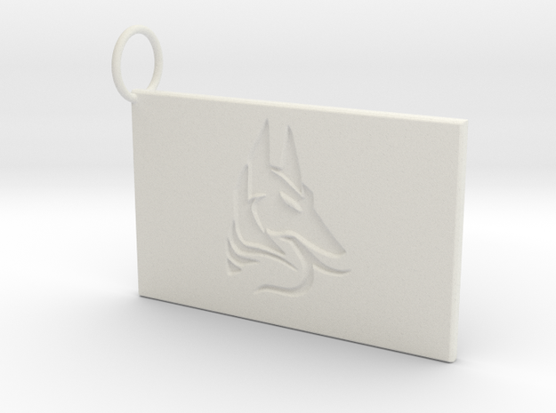 Anubis Keychain in White Strong & Flexible