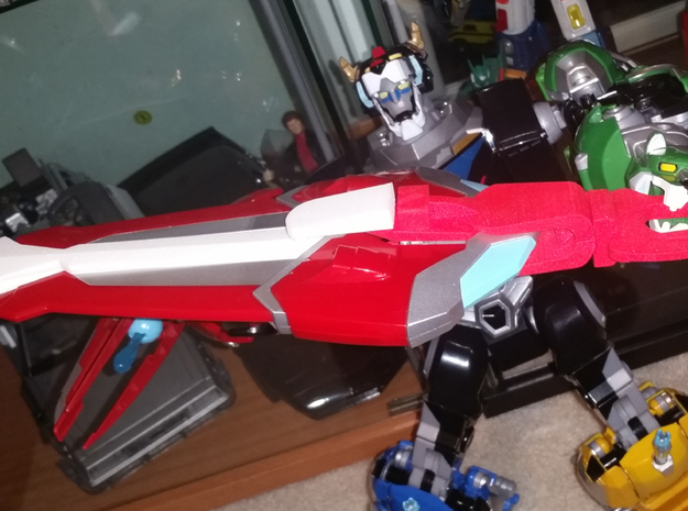 Voltron Wings to Sword Conversion Kit in White Natural Versatile Plastic
