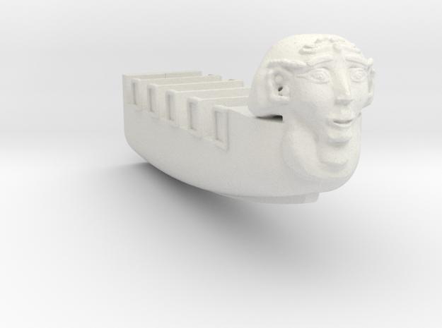 Pharoas Furry boat half for scratch builders in White Natural Versatile Plastic