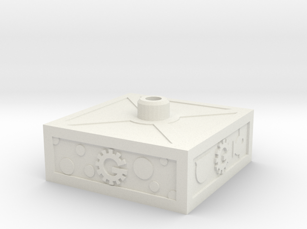 Servo Base in White Natural Versatile Plastic
