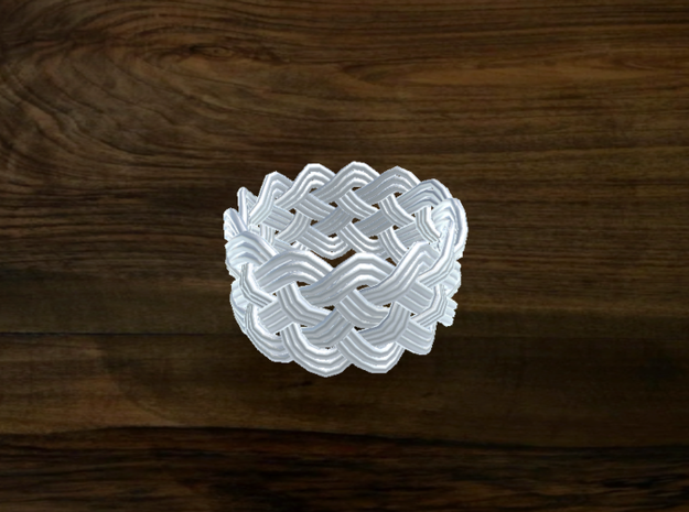 Turk's Head Knot Ring 5 Part X 13 Bight - Size 7.7 3d printed