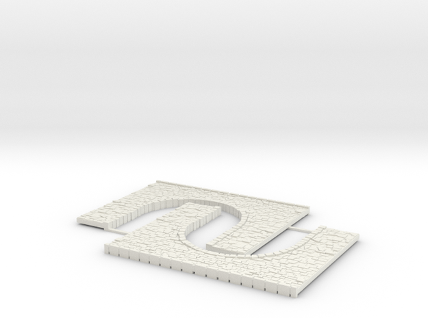 Arch1-85mm in White Strong & Flexible