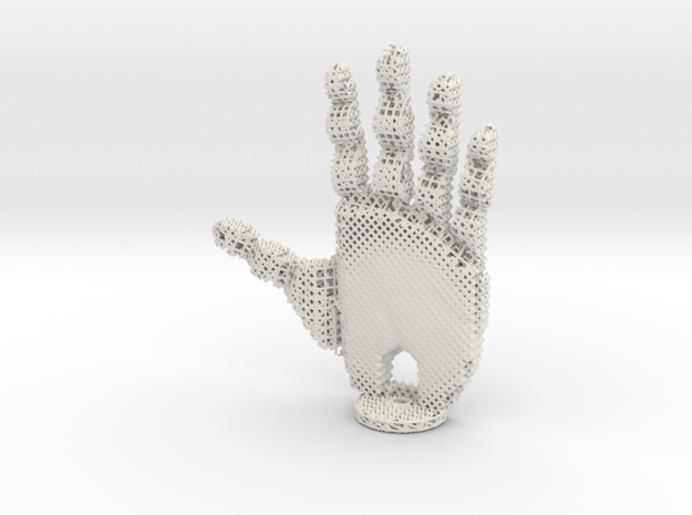 Robotic Hand in White Strong & Flexible