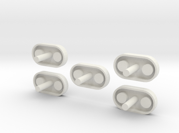Thrust Structure Adapter 1:48 5 Pack in White Natural Versatile Plastic