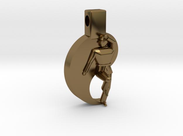 Pendant - Mens Keumgang in Polished Bronze