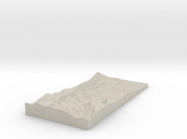 Model of Brechhornhaus in Natural Sandstone