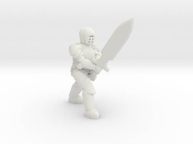 General Paladin Mini 2 (Greatsword) in White Strong & Flexible
