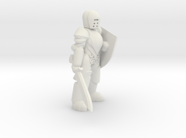 General Paladin Mini (Sword and Shield) in White Strong & Flexible