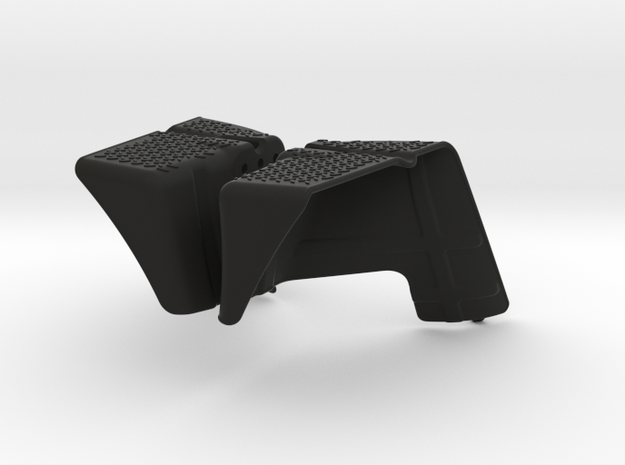 Axial Wraith Inner Fenders - Front in Black Strong & Flexible