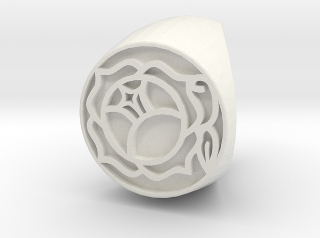 Utena Ring Size 5.5 in White Natural Versatile Plastic