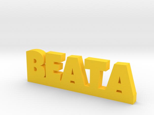 BEATA Lucky in Yellow Processed Versatile Plastic