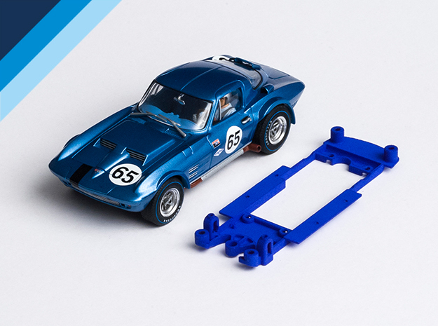 1/32 Monogram Corvette GrandSport Chassis SW pod in Blue Strong & Flexible Polished