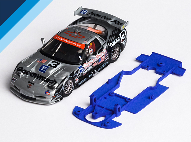 1/32 Fly Chevrolet Corvette C5-R Chassis S.it AW in Blue Processed Versatile Plastic