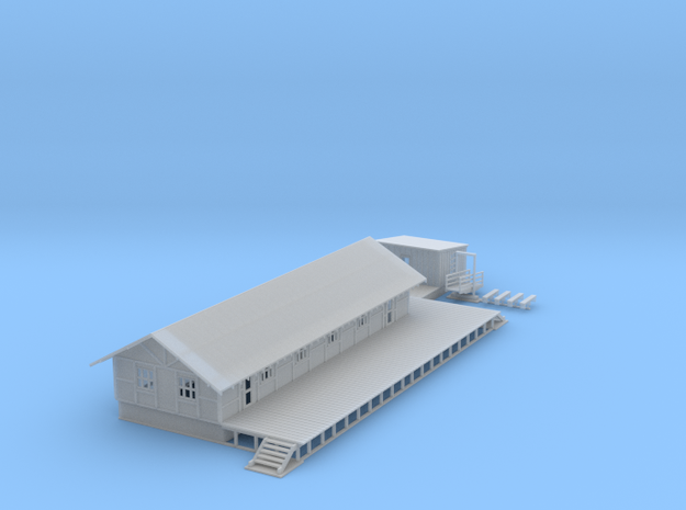 Logging Building Z Scale in Smooth Fine Detail Plastic