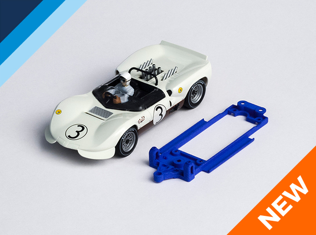 1/32 MRRC Chaparral 2C Chassis for Slot.it pod in Blue Strong & Flexible Polished