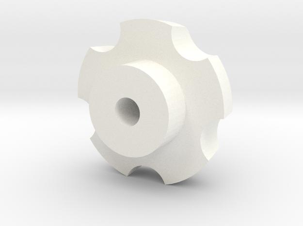 Hub cap for alloy rim D90 D110 1:10 in White Processed Versatile Plastic