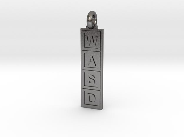 PC Gamer's Keyring/Pendant in Polished Nickel Steel