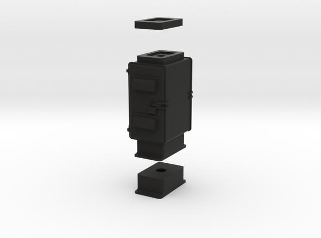 HO Cabinet Base 1 in Black Natural Versatile Plastic