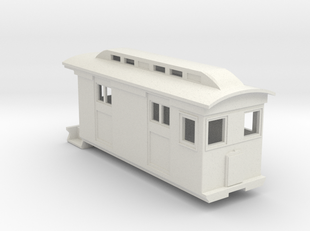 HOn30/OO9 Freight Doodlebug/Railmotor (Megan 2) in White Strong & Flexible