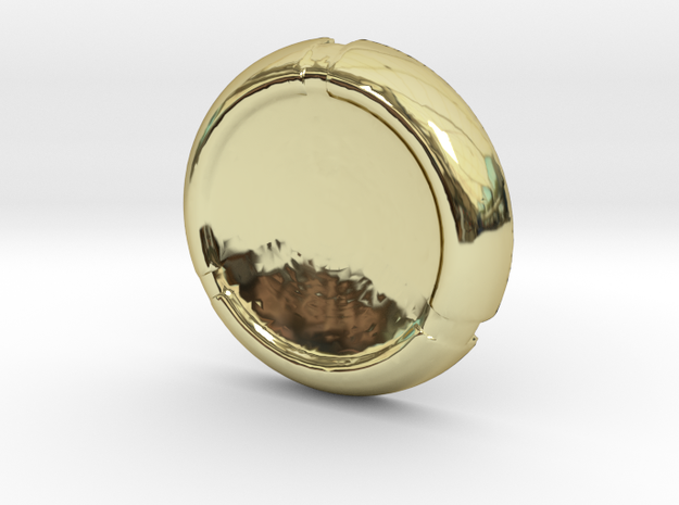 Kanoka disk in 18k Gold Plated Brass