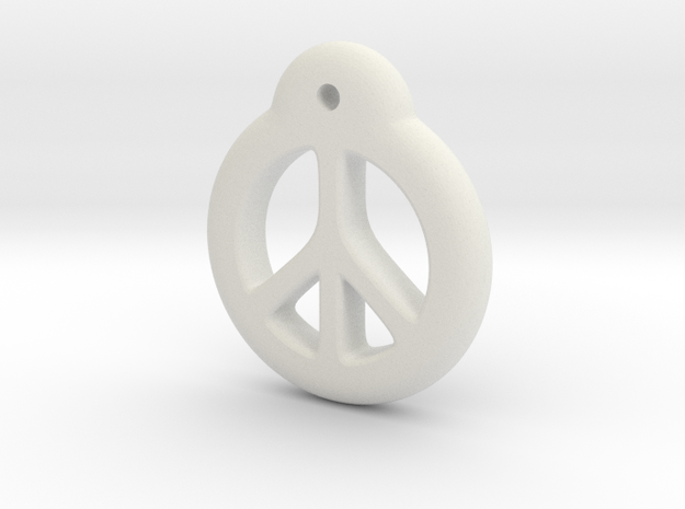 Blythe Doll Pullring *Peace* in White Natural Versatile Plastic