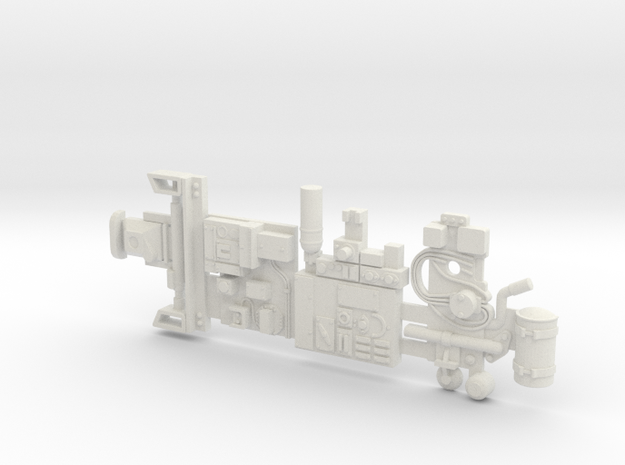 Y-wing Centurion Parts in White Strong & Flexible