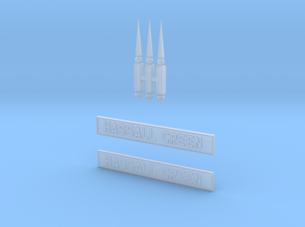 HG42 Finials And Nameboards in Smooth Fine Detail Plastic