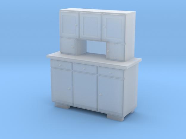 TT Cupboard 3 Doors - 1:120 in Smooth Fine Detail Plastic