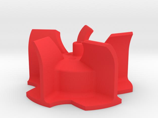 ALTES Wurfrad Bruder Schneeschleuder in Red Processed Versatile Plastic