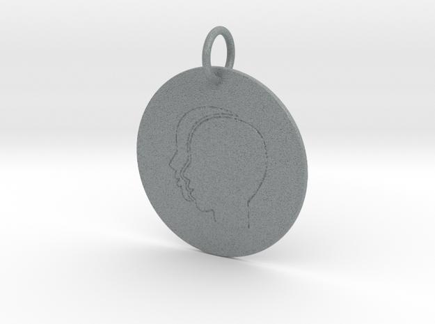 Gemini Keychain in Polished Metallic Plastic