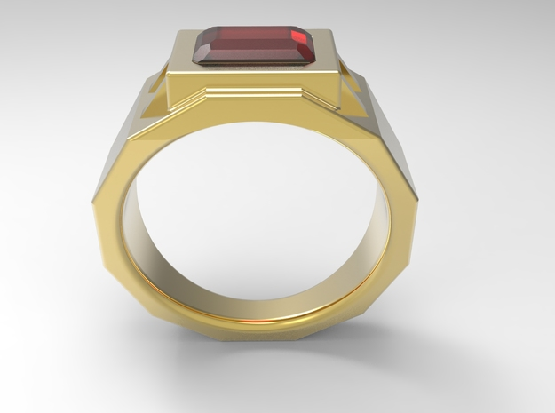 Engineers Fingers Ring G in 18k Gold Plated Brass: 10 / 61.5