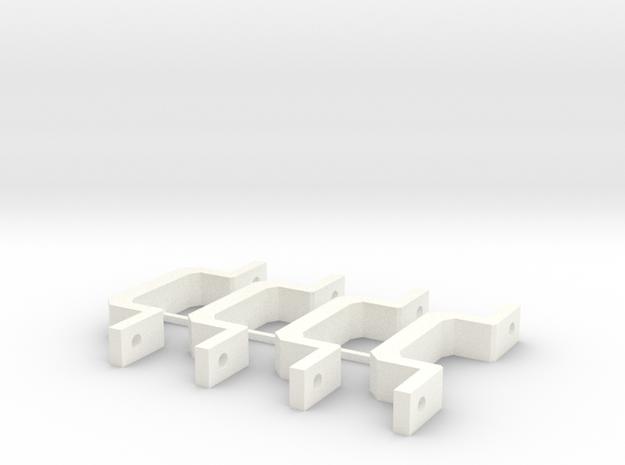 Motor mount in White Processed Versatile Plastic