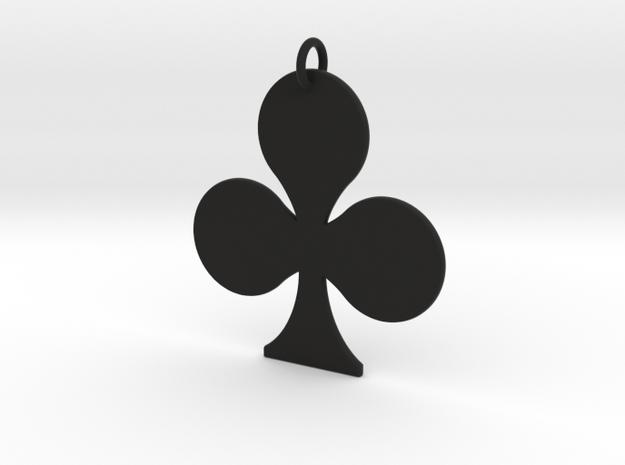 Club Pendant in Black Natural Versatile Plastic