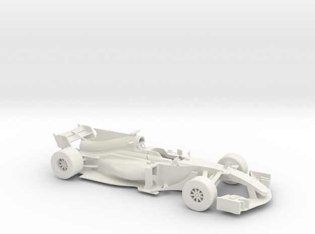 F1 2017 car 1/18 in White Natural Versatile Plastic