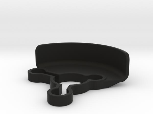 2485 - Yokomo YZ2 LAYDOWN GEAR SHIELD in Black Natural Versatile Plastic