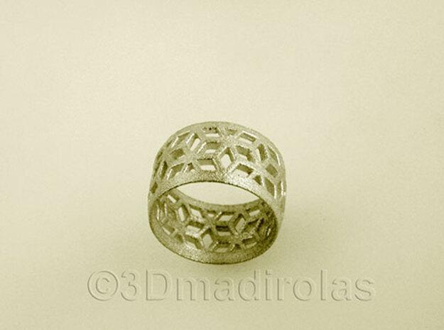 geometric ring 2 in Raw Silver