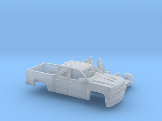 1/87 2016/17 Chevrolet Silverado EXT Cab Short Bed in Smooth Fine Detail Plastic