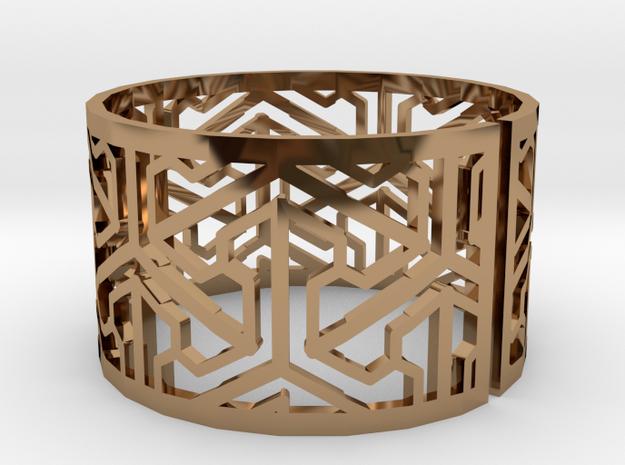 Bracelet AQ (1) in Polished Brass